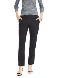 Stripe Black Business Office Lady Suit with High Quality pictures & photos