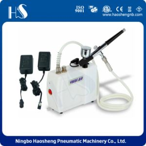 Professional Makeup Kits Piston Compressor with Battery HS08ADC-Sk pictures & photos