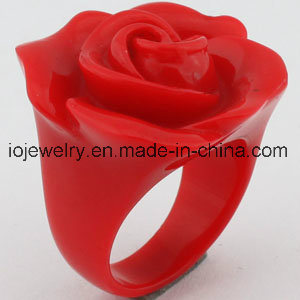 The Best Valentine′s Day Gift Resin Rose Rings pictures & photos