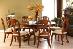 Birch Dining Table Dining Set Wooden Furniture pictures & photos