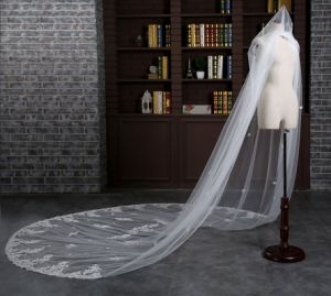 Brand New Cathedral Length 3 Meter Ivory Wedding Veil with Comb pictures & photos