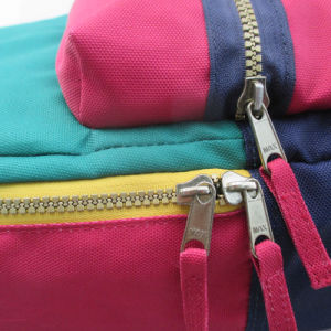 Contrast Color Back to School Polyester Backpack pictures & photos