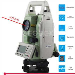 "650m Reflectorless 2"" Total Station High Precision Topographic Construction Surveying Instrument pictures & photos"