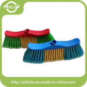China Factory Sale Plastic Garden Broom with Long Hard Bristle (HLC1110B) pictures & photos