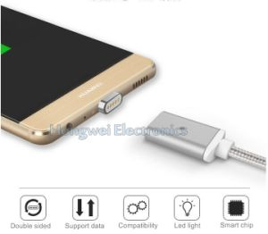 3 in 1sync Charging Data Magnetic USB Cable with LED Light for Type C Android and for iPhone pictures & photos