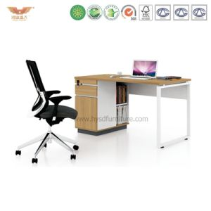 Office Manager Melamine Office Desk with L Shape Return (H90-0201) pictures & photos