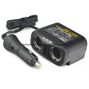 DC12V 2-Socket Cigarette Lighter Adapter Socket Splitter Separate pictures & photos