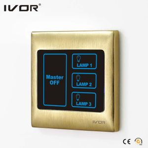 3 Gangs Lighting Touch Switch with Master Control (SK-T2000L3-M) pictures & photos