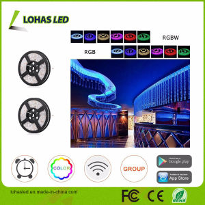 Smartphone Controlled Waterproof Optional DC12V 5m/Roll 300 LEDs 5050 SMD RGB WiFi Smart LED Strip Light Kit pictures & photos