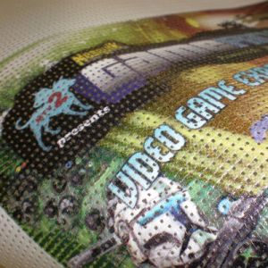 Custom High Quality Mesh Banner, Graphic Imaginable Fence Mesh Banner pictures & photos