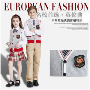 Latest Winter British Style Elementary Classical School Uniform pictures & photos