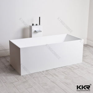 Rectangular Solid Surface Marble Double Apron Bathtub (BT1705262) pictures & photos