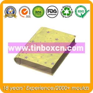 Book Shape Tin Box for Gift Tin Can Packaging pictures & photos