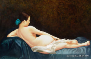 The Naked Girl UV Printed on Wall Panel for Home Decoration pictures & photos