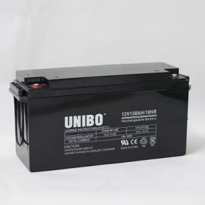 12V150ah High Quality Solar System Solar Battery AGM Lead Acid Battery pictures & photos