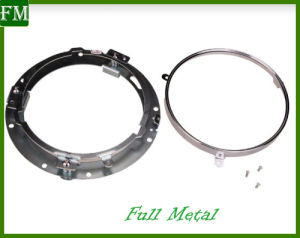 "Chrome 7"" LED Headlight Mounting Ring Bracket for Harley/Wrangler pictures & photos"
