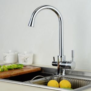 FLG Chrome 3 Way Tap Kitchen Sink Faucet Water Drinking pictures & photos
