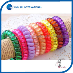 Transparency Plastic Colorful Comfortable Hair Tie pictures & photos