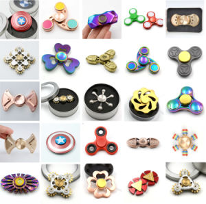 2017 Fashion Metal Fidget Spinner Hand Finger Tri Spinner Toys pictures & photos