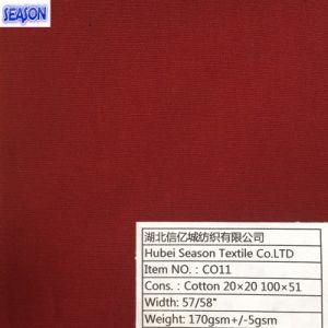 Cotton 20*20 100*51 170GSM Dyed Plain Weave Cotton Fabric Textile pictures & photos