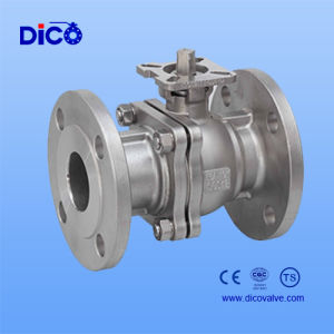 2 Piece Stainless Steel Flanged Ball Valve with Mounting Pad pictures & photos