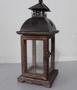 Iron Wood Decor Lantern Home Furniture Lantern