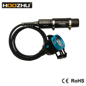 Hoozhu Hu33 Canister Diving Light Waterproof 120m Canister Diving Torch LED Flashlight pictures & photos