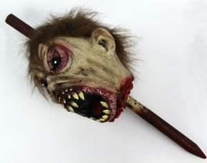 2017 Halloween Party Decoration Bloody Devil Head with Stick