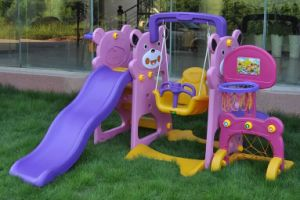 Kids Indoor Playhouse with Slide Children′s Play Equipment Indoor Playground pictures & photos