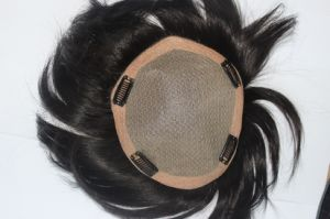 Swiss Lace Real Human Hair Women Toupee pictures & photos