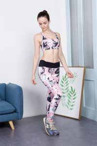 OEM Polyester Spandex Sublimation Women Wholesale Yoga Fitness Leggings pictures & photos