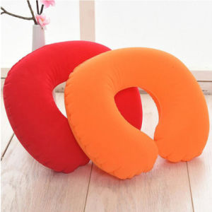 Flocked PVC Inflatable Neck Pillow for Airplane pictures & photos