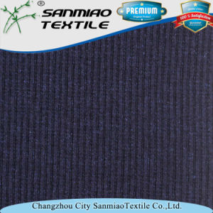 Indigo 30s Knitted Denim Rib Fabric for Garments