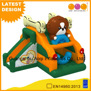 New Inflatable Game Doggie Cart Combo Inflatable Amusement Park Bouncer for Sale (AQ01735) pictures & photos