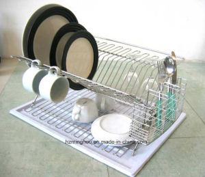 Wall Mounted Kitchen Mug Hook Display Wire Storage Shelves Rack pictures & photos