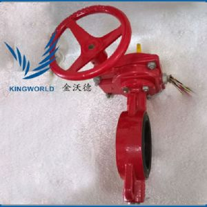 FM UL Approved Dn50-Dn200 Fire Fighting Grooved Signal Butterfly Valve pictures & photos