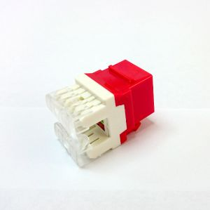 Cable Matters CAT6 RJ45 Keystone Jack in-Line Coupler in Red pictures & photos