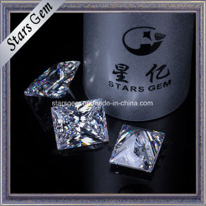 Wholesale Rectangle Princess Cut White Synthetic Cubic Zirconia Stone pictures & photos