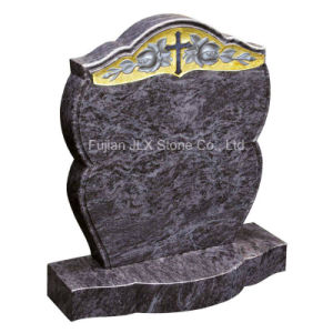 Granite Cross Rose Carving Design Cemetery Memorial Monument pictures & photos