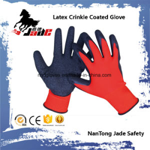13G Nylon Palm Latex Crinkle Coated Safety Glove pictures & photos