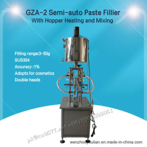 Gza-2 Semi-Auto Paste Filling Machine with Hopper Heating and Mixing pictures & photos