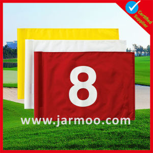 36X50cm Printing Logo Plastic Tube Golf Flag pictures & photos