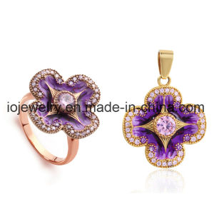 316L Stainless Steel Flower Gold Plated Jewelry Sets pictures & photos