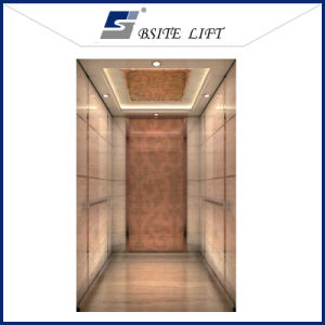 Passenger Lift with Mirror Etching Stainless Finish pictures & photos