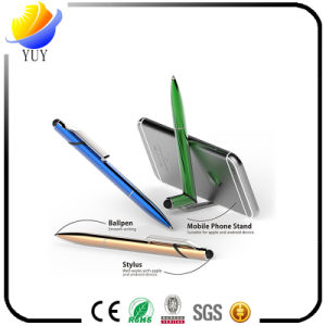 Special Plastic Pen Mobile Phone Holder with Stylus Can Print Qrcode pictures & photos
