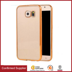 Ultrathin Clear Crystal TPU Mobile Case Electroplating Transparent TPU Cover pictures & photos