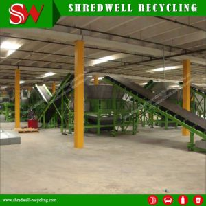 Scrap Tire Recycling Plant for Shredding Used/Waste Tyres to Tdf Rubber Chips pictures & photos