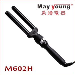 Wholesale Unique & Cassic Double Barrels LCD Hair Curling Iron Hair Curler pictures & photos