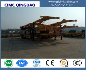 2/3 Axle Extendable Sliding Skeleton Container Trailer Chassis pictures & photos