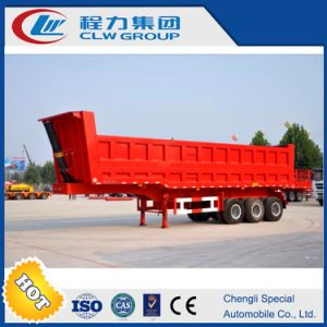 40-100tons 2/3/4 Axle Red Dump Trailer pictures & photos
